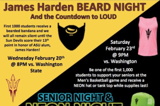 Arizona State Wins on James Harden Beard Night