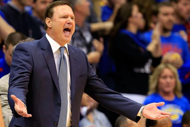 Bill Self Shuffles Hammer-Style Against Oklahoma State (GIF)