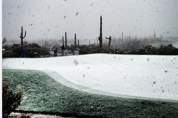 Snow in Arizona Delays Resumption of Match Play