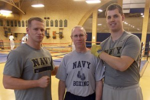Navy Football Players Square off in Heavyweight Boxing Final