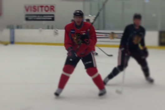 Instagram: Hossa Skating in Practice