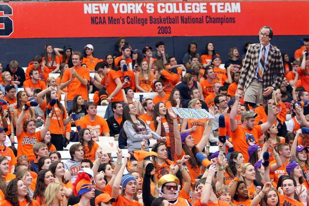 Syracuse Students Line Up Tuesday for Saturday's Basketball Game
