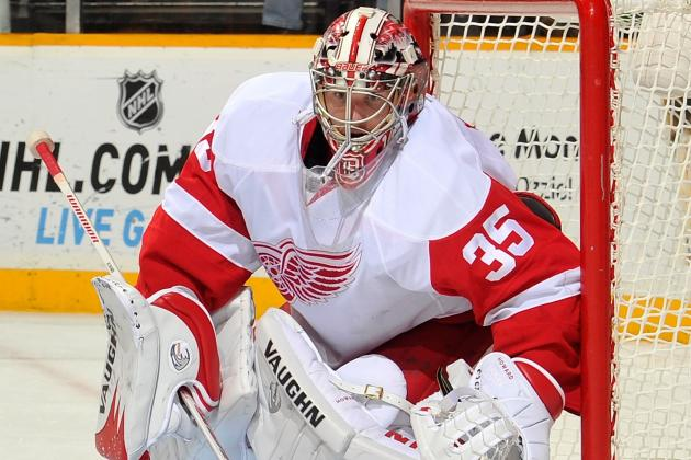Red Wings' Jimmy Howard Says Blurred Vision Was 'scary'; Jan Mursak in Tonight