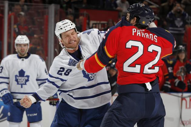 Maple Leafs' Colton Orr Scratched Against Sabres