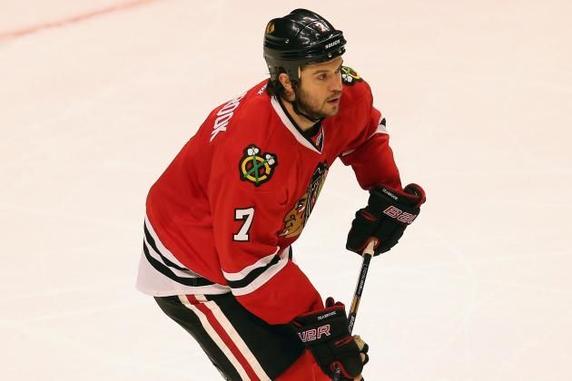 Hawks' Hossa Practices, Could Play vs. Sharks
