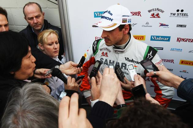 Sutil Back in F1 Cockpit After a Year on the Sidelines