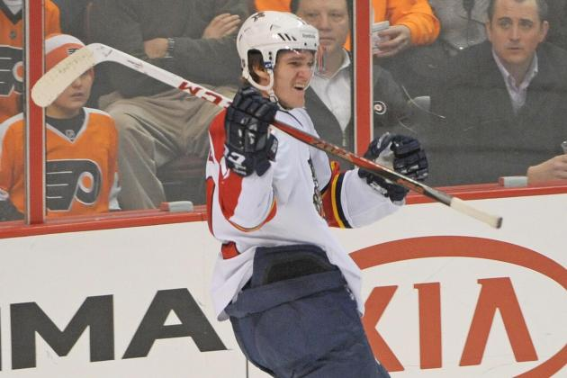 Huberdeau scores 2 goals, Panthers beat Flyers 5-2