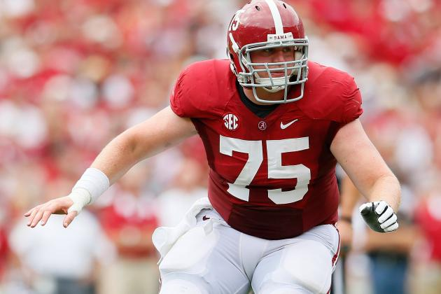 Even with an Injury, Center Barrett Jones Leaves His Mark on Combine