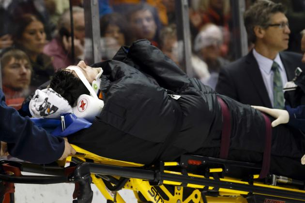 Blue Jackets' Anisimov Taken Off Ice on Stretcher