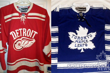 Apparent Red Wings-Maple Leafs Winter Classic Jerseys Revealed