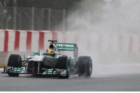 Lewis Hamilton Fastest on Rain-Affected Final Test Day