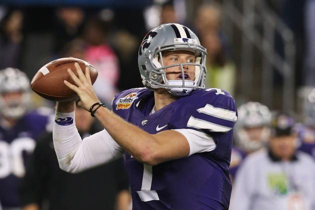 Collin Klein Asked to Work with Tight Ends at Combine