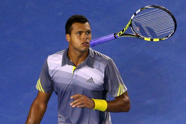 Tsonga Saves Five Match Points to Edge Tomic