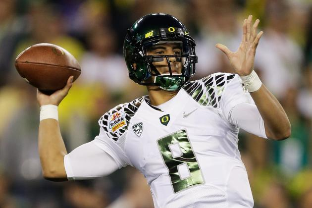 UO Coach: Mariota Is 'Taller, Faster, Better-Looking' Than Manziel