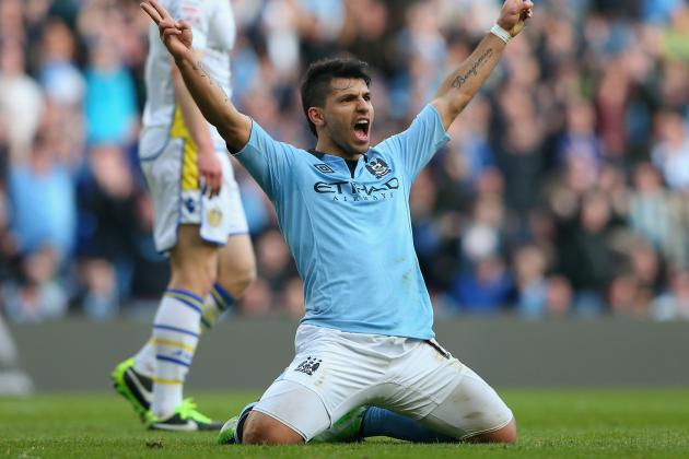 Sergio Aguero Very Happy at Manchester City