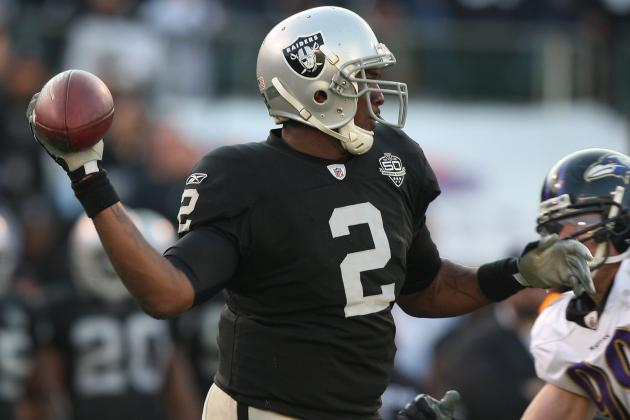 JaMarcus Russell Reportedly Expected to Throw to Larry Fitzgerald at Pro Day