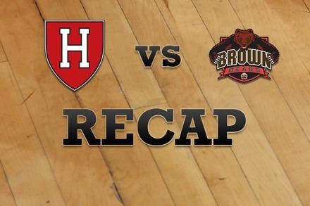 Harvard vs. Brown: Recap, Stats, and Box Score