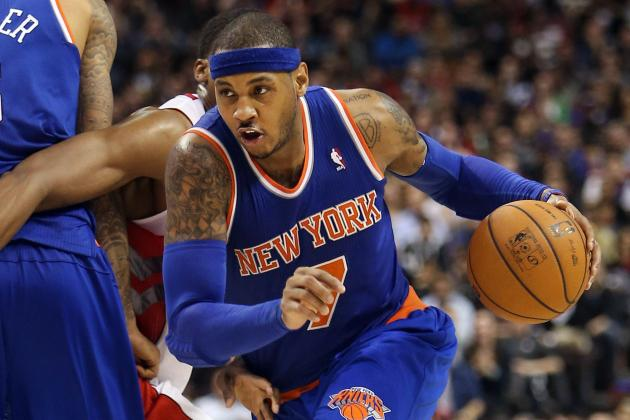 Carmelo Struggles in Fourth as Raptors Hand Knicks Fourth Straight Loss