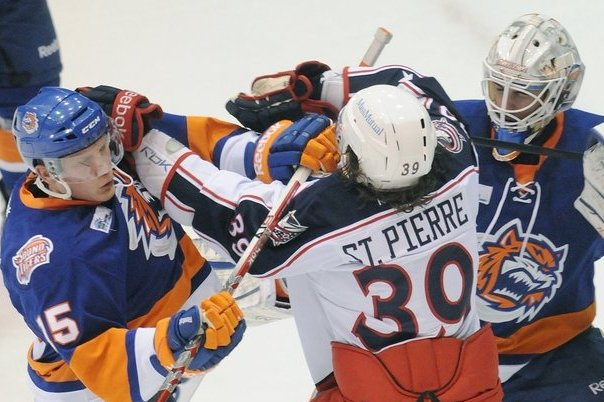 AHL Fight Night Between Bridgeport, Springfield: 244 Penalty Minutes (VIDEO)