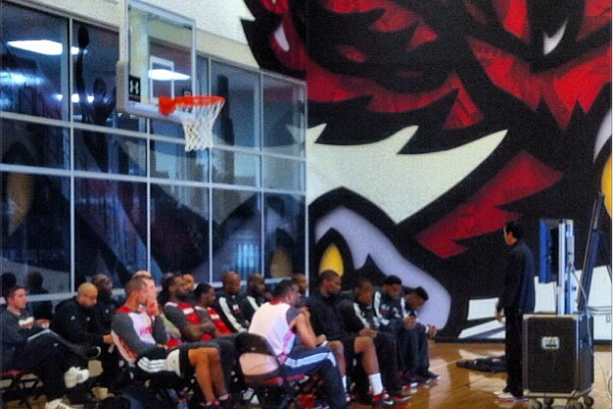 Miami Heat Take in Film Session at Temple University