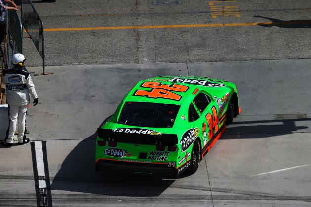 Danica Fast, but Day Ends Early