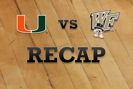 Miami vs. Wake Forest: Recap, Stats, and Box Score