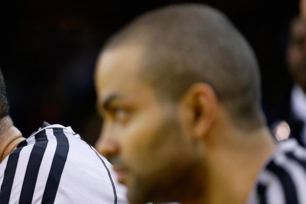 Spurs Report Tony Parker (right ...