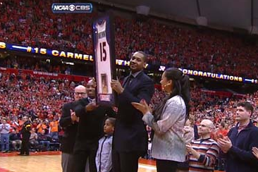 Syracuse Retires Carmelo Anthony's Jersey