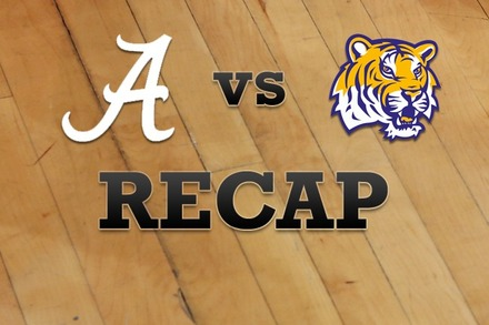 Alabama vs. LSU: Recap, Stats, and Box Score