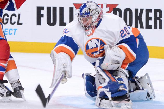 Nabokov Makes 35 Saves as Isles Blank Sabres