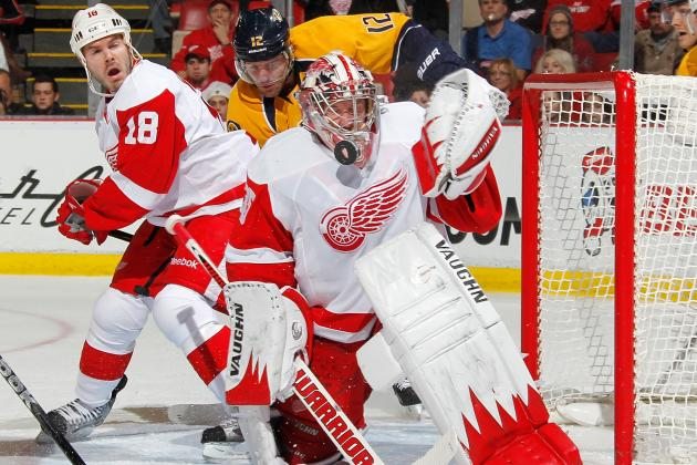 Detroit Red Wings Beat Nashville Predators 4-0 to End 5-Game Losing Skid