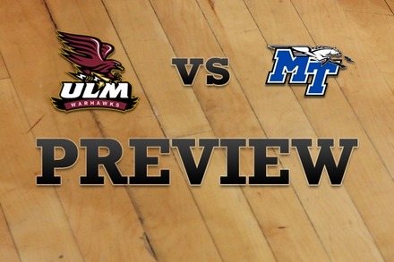 Louisiana-Monroe vs. Middle Tenn State: Full Game Preview