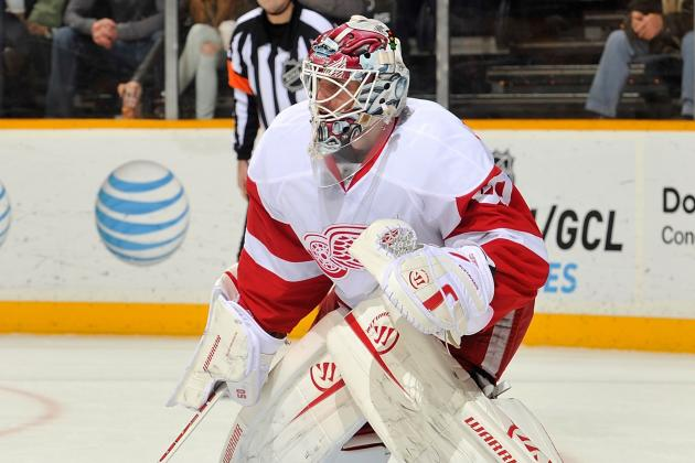 Jonas Gustavsson Hurting Again; Jimmy Howard Starts vs. Canucks