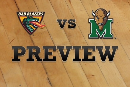 UAB vs. Marshall: Full Game Preview