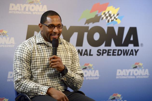 Daytona 500 Scene: Ray Lewis, 50 Cent, Erin Andrews