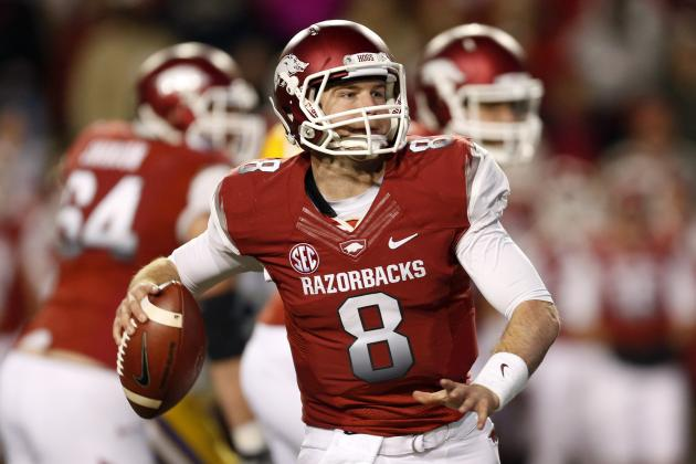 Tyler Wilson: Poor Combine Numbers Prove QB Isn't Worth 1st-Round Pick