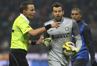 Inter goalkeeper Samir Handanovic has been exceptional in this Milan derby.