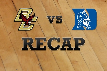 Boston College vs. Duke: Recap, Stats, and Box Score