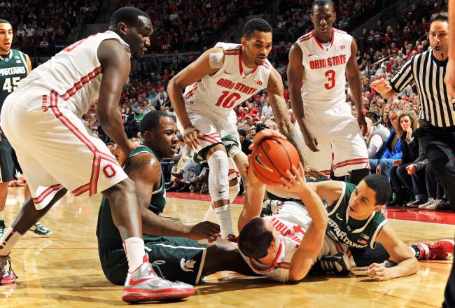 Ohio State is out-hustling Michigan State in every aspect of the game.
