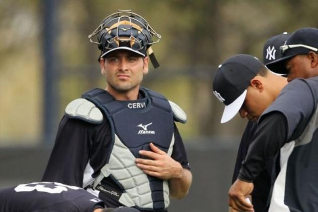 Yankees Catcher Francisco Cervelli Eager to Impress with His Defense