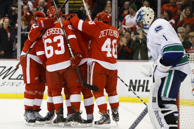 Canucks Surrender Three Power-Play Goals in Red Wings Romp
