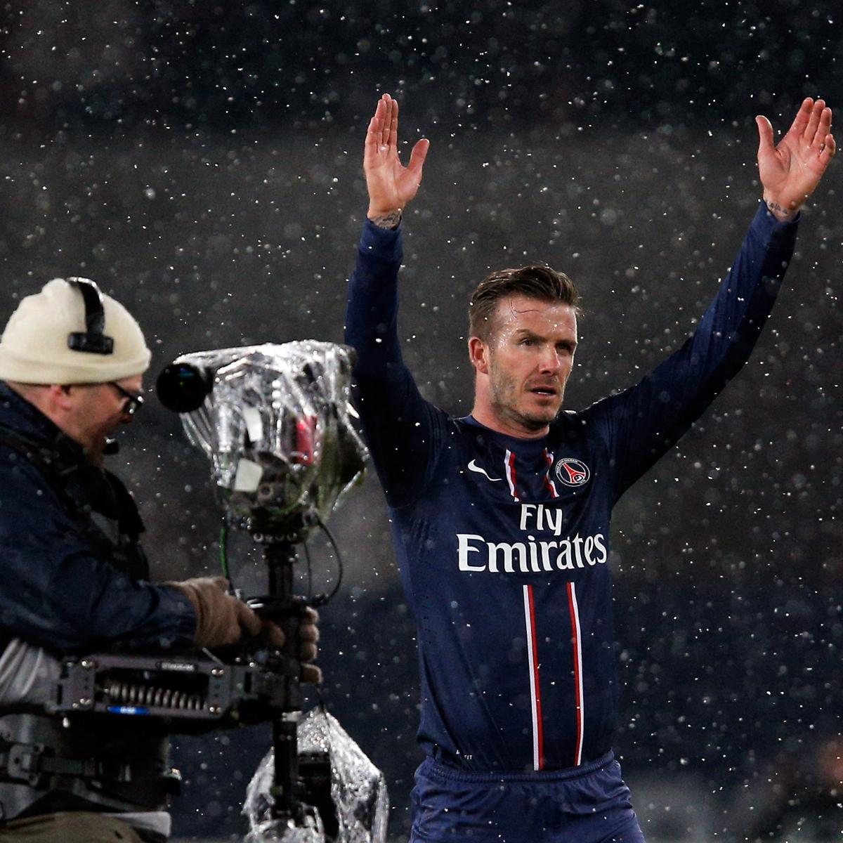Psg 2 0 Lyon Two Own Goals Seal The Points For Paris: David Beckham Makes PSG Debut Against Marseille (Video