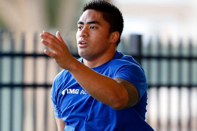 Manti Te'o Runs His First 40 in Unofficial 4.81