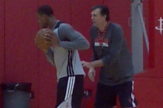 Pic: Kevin McHale Works out Thomas Robinson