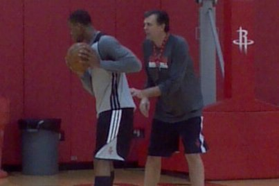 McHale Works Robinson Overtime After First Practice