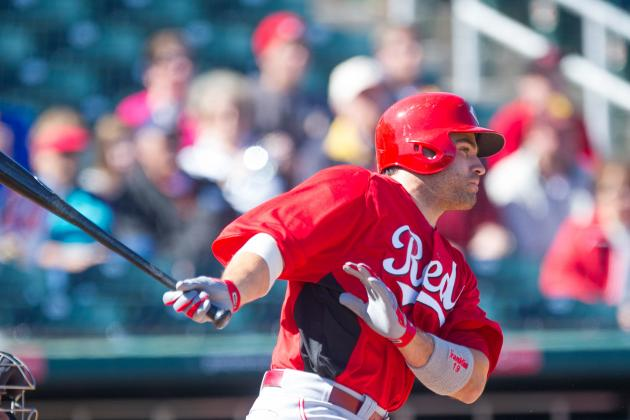 Votto homers, Reds beat split-squad Brewers 5-2