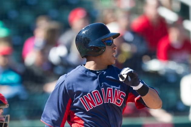 Indians' Brantley Spiked, Gets Stitches in Arm