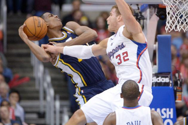 Clippers' Blake Griffin Picks Up His Own Rebound