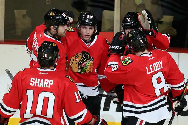Hossa Ensures Hawks Skate off with OT Win