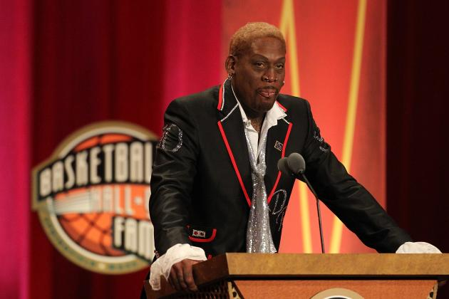 Dennis Rodman Joins Group of Harlem Globetrotters to Film Show in North Korea